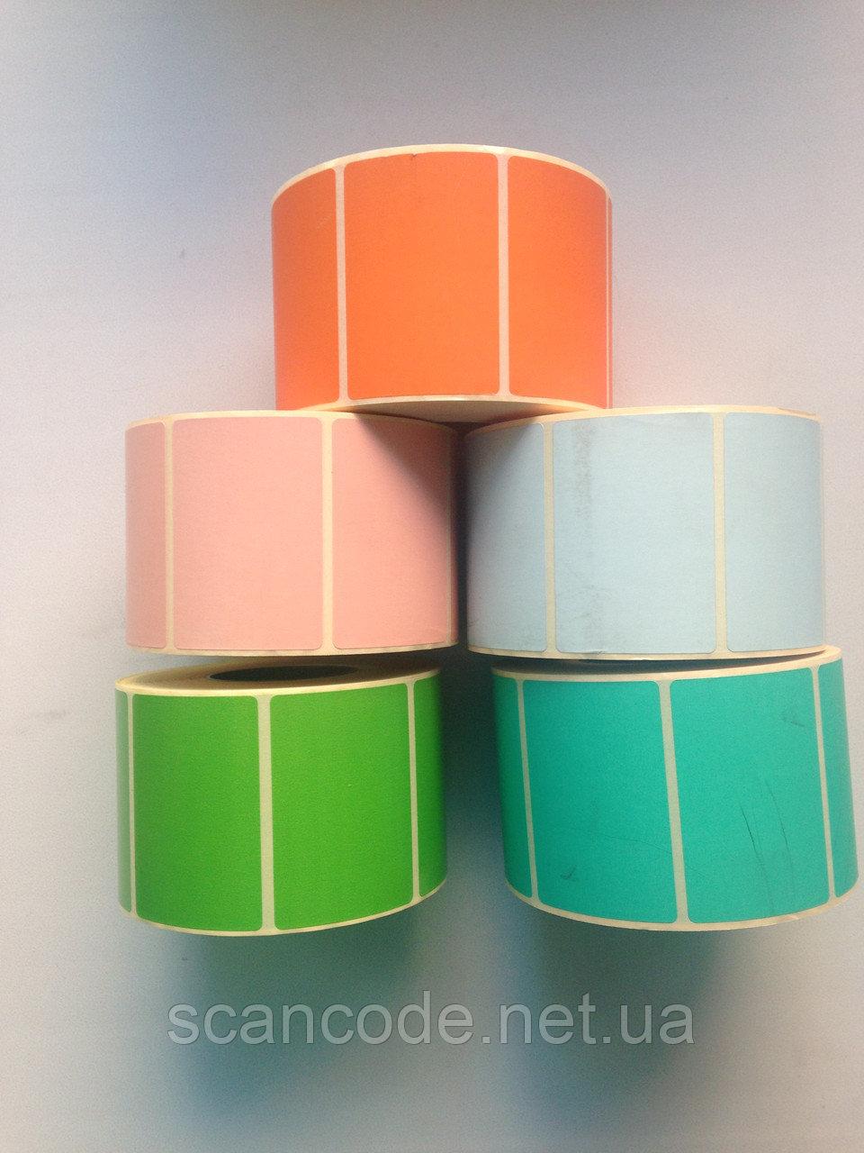 Цветная термоэтикетка