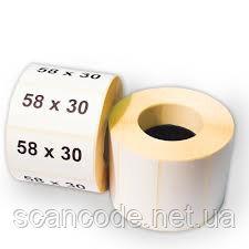 Этикетка 58х30 термо эко
