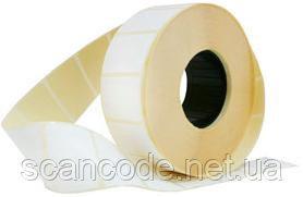 Этикетка 40х25 термо эко цветная (желтая, оранжевая и тд)_0