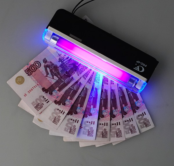 Проверка банкнот на просвет