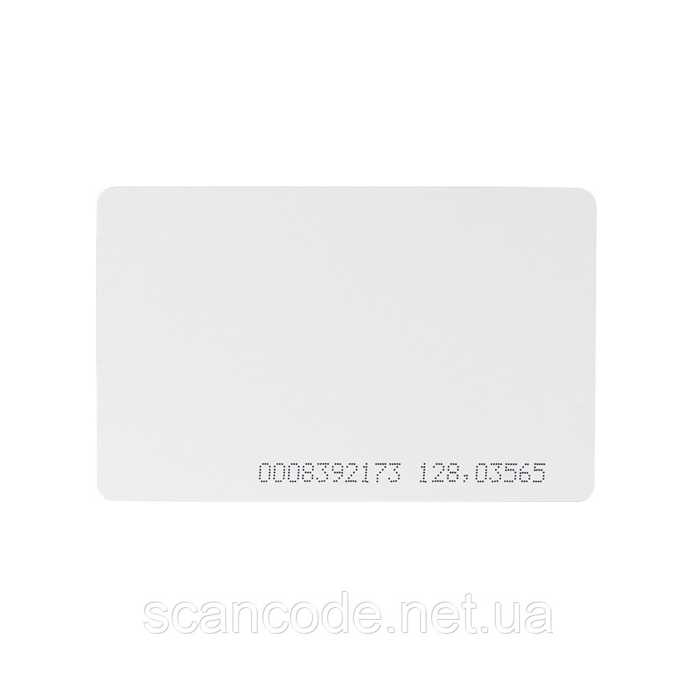 Пластиковая карта с чипом Em-Marine (проксимити. LF, 125 кГц)