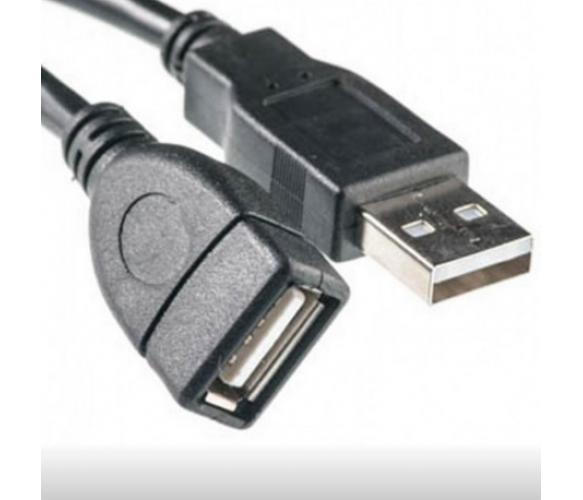 Удлинитель USB 2.0 AM/AF, 1,5m, черный Q250